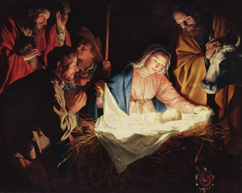 """The Adoration of the Shephers"" by Gerard van Honthorst (Image in the public domain)"