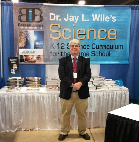 This is me standing in front of my publisher's booth at the Southeast Homeschool Convention.
