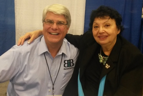 Inge Auerbacher and me at the Texas Homeschool Convention