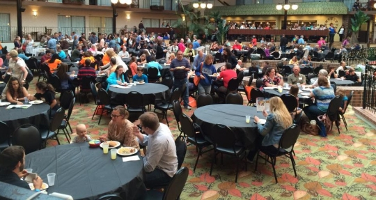 A portion of the crowd at the 2015 Homeschool Iowa Conference.