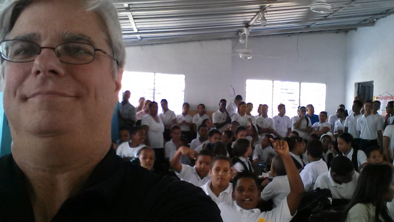 Standing room only at one of the Dominican Republic schools.