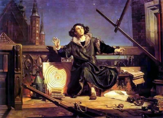 "Jan Matejko's painting entitled, ""Astronomer Copernicus, or conversation with God."""