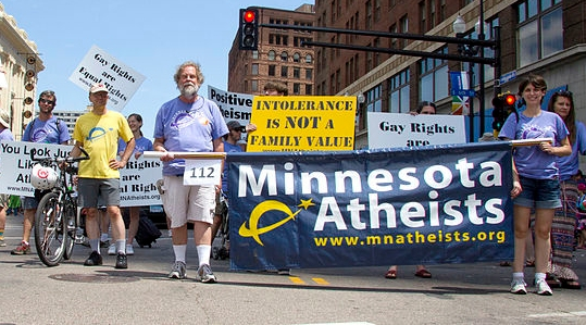 Minnesota Atheists in the 2012 Pride Parade (click for credit)