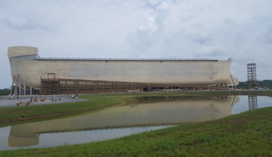 A view of the Ark Encounter (click for a larger image)