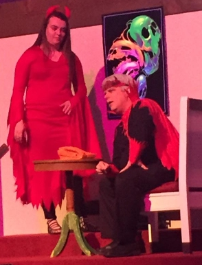 Me as the devil and Emma as my right-hand demon. (photo by Kim Williams)